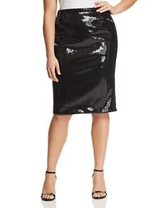 Marina Rinaldi - Occipite Sequined Pencil Skirt