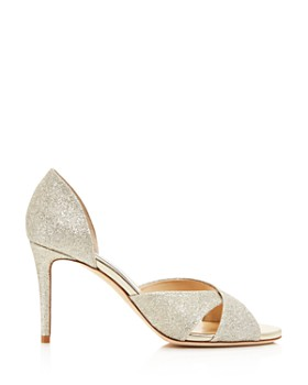 Jimmy Choo - Women's Lara 85 Glitter d'Orsay High-Heel Sandals