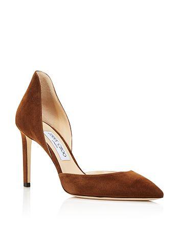 Jimmy Choo - Women's Liz 85 Suede d'Orsay High-Heel Pumps