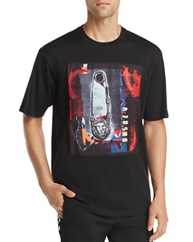 Versus Versace - Abstract Safety Pin Graphic Tee
