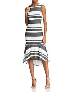 Adrianna Papell -  Striped Trumpet Dress