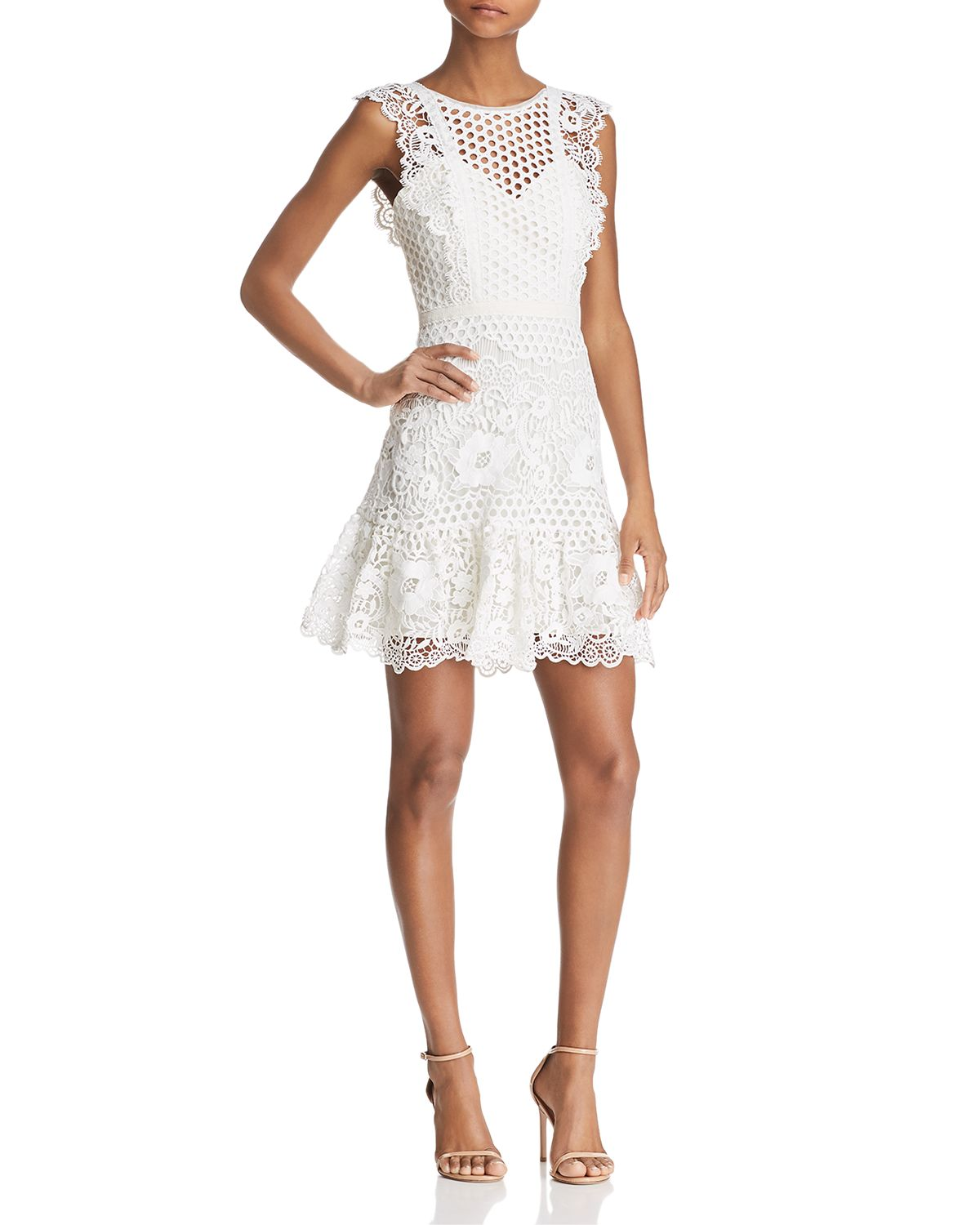 Mixed Lace Dress   100% Exclusive by Bcbgmaxazria