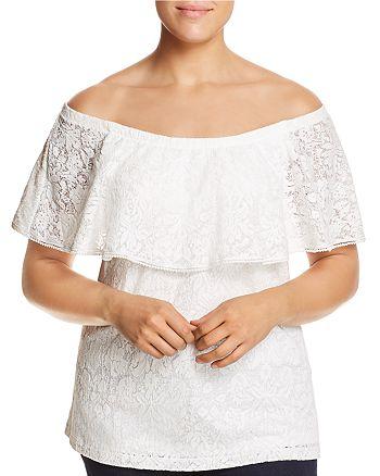 Estelle Plus - Bayview Lace Off-the-Shoulder Top
