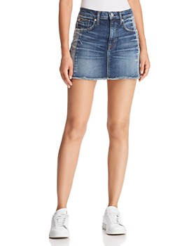 Hudson - Viper Denim Mini Skirt in Rip Love
