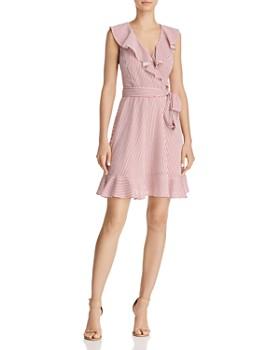 Lucy Paris - Amelio Striped Faux-Wrap Dress - 100% Exclusive
