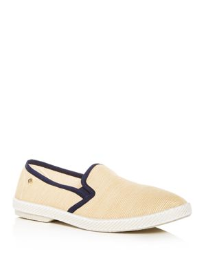 RIVIERAS Men'S Montecristi Raffia Slip-On Sneakers in Marine