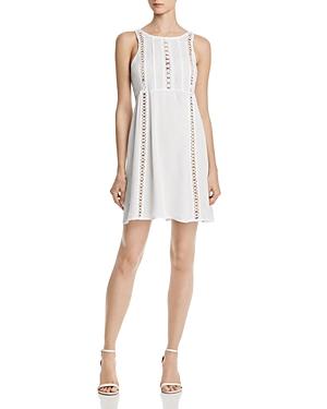 Aqua Crochet Inset Dress - 100% Exclusive