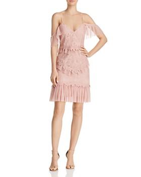 Bardot - Valorie Cold-Shoulder Lace & Tulle Dress
