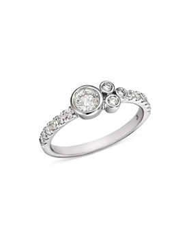 Bloomingdale's - Diamond Bezel Cluster Ring in 14K White Gold, 0.60 ct. t.w. - 100% Exclusive