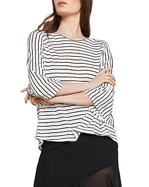 Bcbgmaxazria Open-Back Striped Top