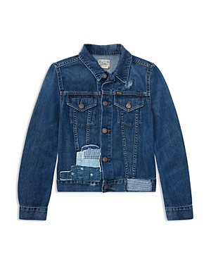 Polo Ralph Lauren Girls Patchwork Denim Jacket  Big Kid