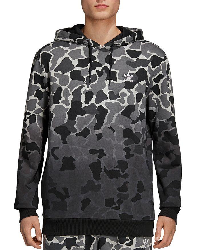 adidas Originals - Camo Print Hooded Sweatshirt