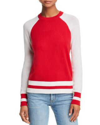 Color Block Raglan Cashmere Sweater   100 Percents Exclusive  by Aqua
