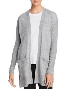 AQUA - Open-Front Cashmere Cardigan - 100% Exclusive