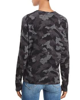 AQUA - Camo Crewneck Cashmere Sweater - 100% Exclusive