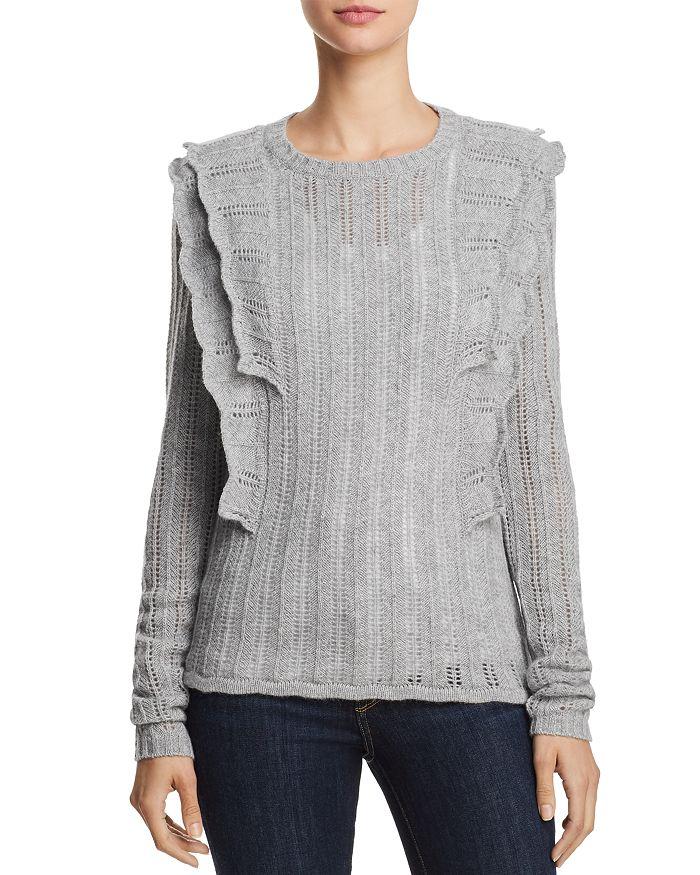 AQUA - Ruffled Pointelle Cashmere Sweater - 100% Exclusive