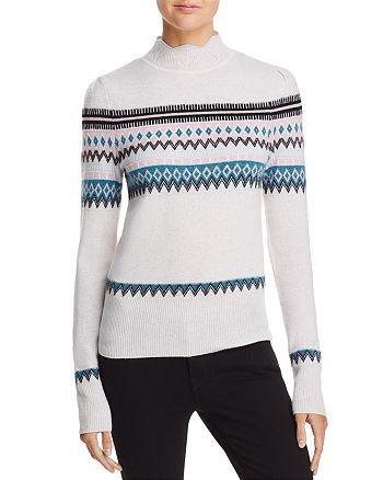 AQUA - Scalloped Fair Isle Cashmere Sweater - 100% Exclusive