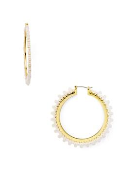 kate spade new york - Braided Thread Hoop Earrings