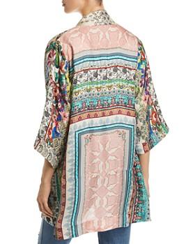 Johnny Was - Samira Mixed-Print Silk Tie-Front Kimono