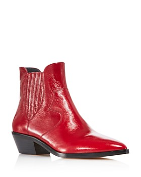 285c7e67efb Rebecca Minkoff - Women's Kaidienne Pointed Toe Leather Low-Heel Booties -  100% Exclusive ...