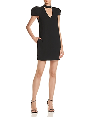 Bcbgmaxazria Choker-Neck Puff-Sleeve Dress