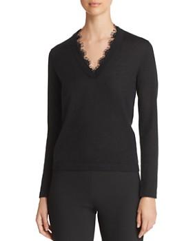 Emporio Armani - Lace-Detail Cashmere Sweater
