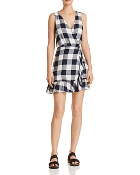 Rails - Madison Gingham Wrap Dress