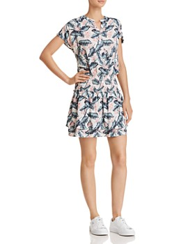 Rails - Angelina Palm Print Drop-Waist Dress