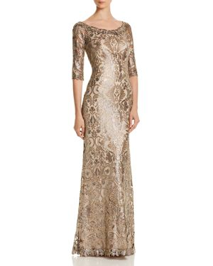SEQUIN-EMBELLISHED GOWN