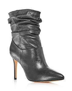 SCHUTZ - Women's Sydnee Leather High-Heel Booties - 100% Exclusive