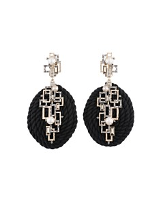 Alexis Bittar - Geometric Coiled Cord Clip-On Drop Earrings