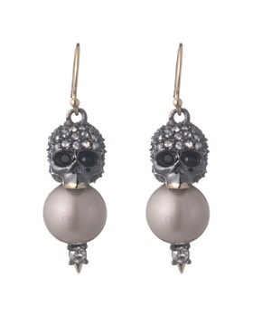 Alexis Bittar - Skull & Simulated Pearl Drop Earrings