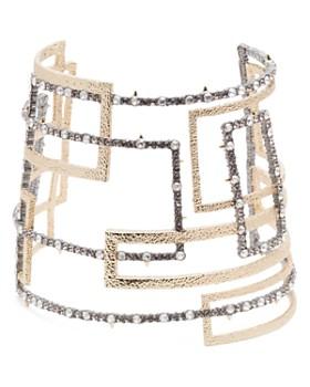 Alexis Bittar - Crystal Encrusted Geometric Cuff Bracelet