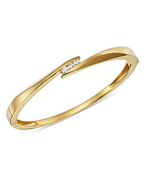Bloomingdale's - Diamond Trio Channel Bangle in 14K Yellow Gold, 0.30 ct. t.w. - 100% Exclusive