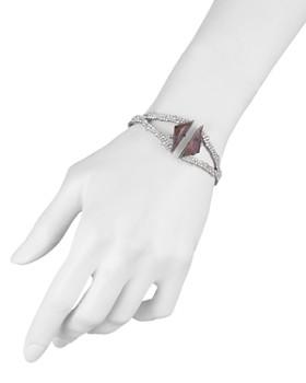 Alexis Bittar - Break Faceted Amethyst Hinge Bracelet