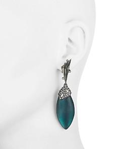 Alexis Bittar - Crystal Cluster Ovoid Drop Earrings