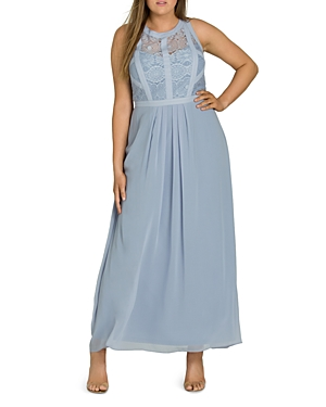 City Chic Paneled Lace Maxi Dress