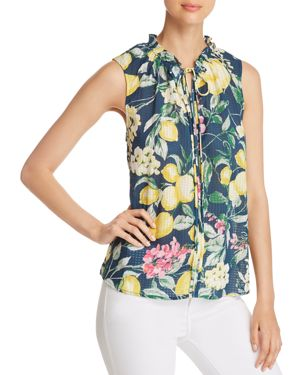 B COLLECTION BY BOBEAU DAHLIA PRINTED TOP