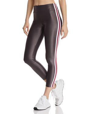 KORAL Trainer High-Rise Side-Stripe Leggings in Lead