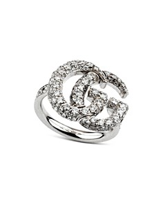 Gucci 18K White Gold GG Running Diamond Ring - Bloomingdale's_0