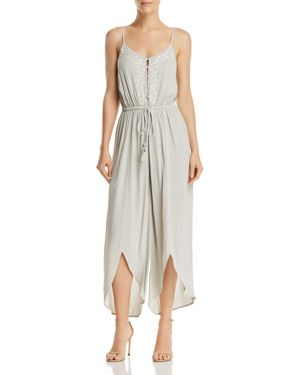 LOST AND WANDER LOST + WANDER ATHENA EMBROIDERED DRAWSTRING JUMPSUIT