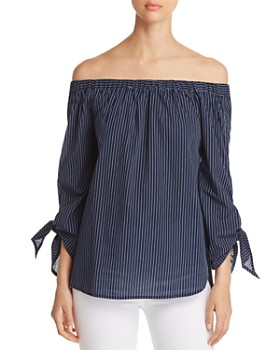 BeachLunchLounge - Off-the-Shoulder Striped Top