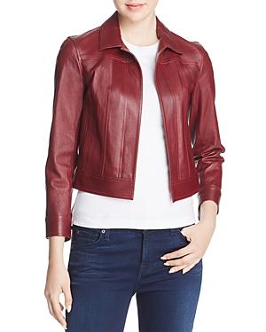 Theory Shrunken Leather Jacket