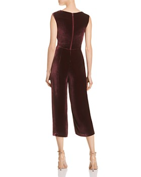 Rebecca Taylor - Cropped Velvet Jumpsuit - 100% Exclusive