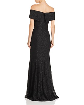 AQUA - Off-the-Shoulder Lace Gown - 100% Exclusive