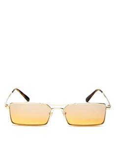 Vogue Eyewear - Gigi Hadid for Vogue Mirrored Slim Rectangular Sunglasses, 55mm