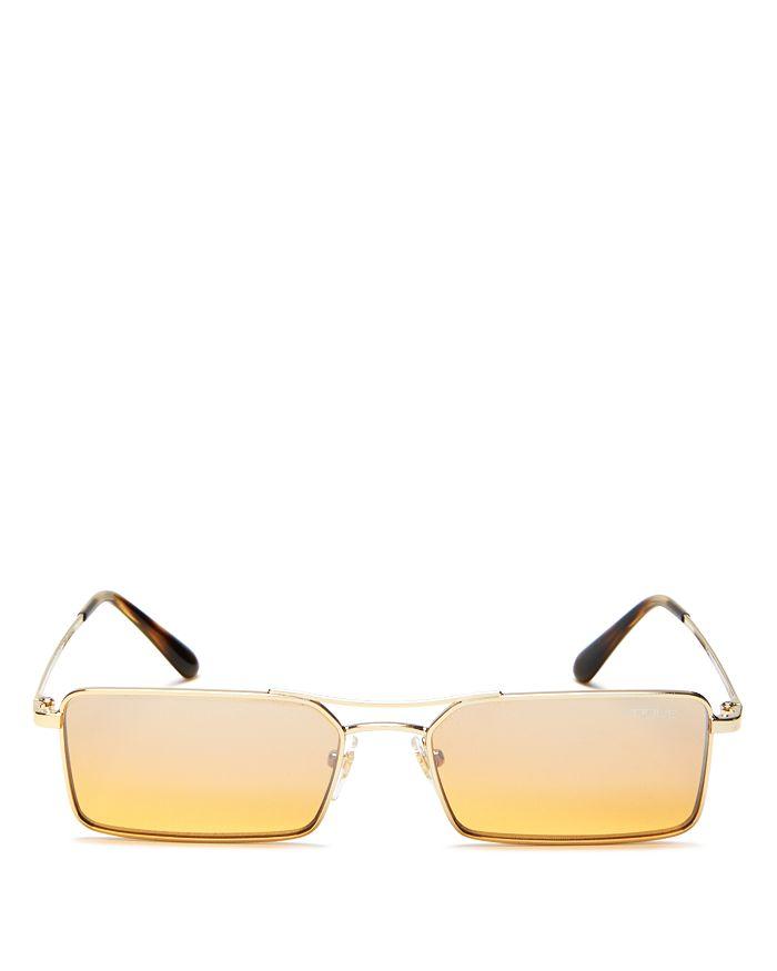 46cdedc773 Vogue Eyewear - Gigi Hadid for Vogue Mirrored Slim Rectangular Sunglasses