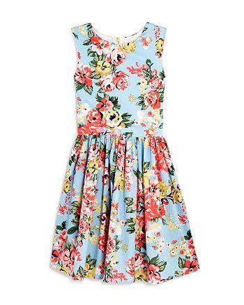 AQUA - Girls' Floral-Print Fit-and-Flare Dress, Big Kid - 100% Exclusive