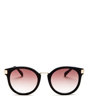 Last Dance 51Mm Mirrored Round Sunglasses - Black