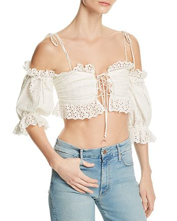 0dbc75209528d For Love   Lemons - Anabelle Eyelet Crop Top